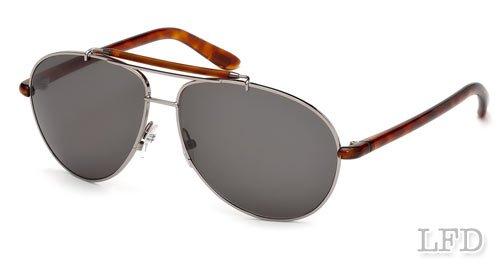 Tom Ford BRADLEY FT0244 Sunglasses TF244 Color 10P Gun Metal Turtle / Grey TF - Tomford Sun Glasses