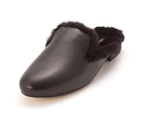 Michael Kors Womens Natasha Slide Faux Fur Closed Toe Casual, Black, Size 8.0 ()