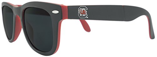 Ncaa South Carolina Gamecocks Game Day Sunglasses With Microfiber Carrying Case Pouch   Fully Folding