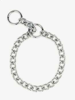 Herm Sprenger Steel Chain Choke Dog Collar 28 in. with 4 mm. Extra Heavy links