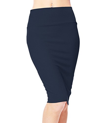 Urbancoco Women's High Waist Stretch Bodycon Pencil Skirt