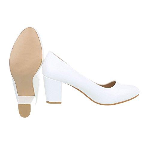 tacón Tacones Zapatos clásicos de Blanco mujer Zapatos tacon Mini para Ital Design 7O4qYnW0Z