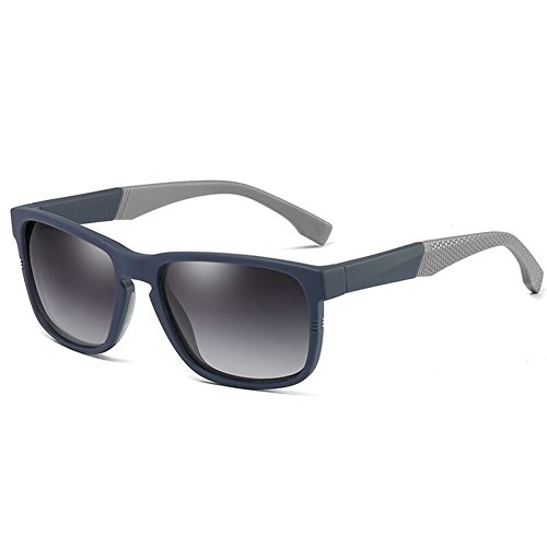 Bluegray Marco Alta Z para Polarizadas Sol Marrón Conducción Cuadradas Gafas TR90 Antideslumbrante UV400 amp;HA De Retro Calidad Vintage Hombre Gafas De Anteojos De Blackblue De Verano qr4qa7