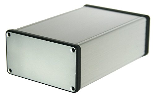 - 1455N Silver Aluminum Box, For 3U Sized PCBs, With 11 Card Guide Slots, Box = 6.30 x 4.06 x 2.01 in