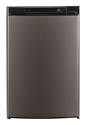 Norcold N3104AGL 3.7 cu. ft. 1 Door Refrigerator (3-Way AC/LP Euro, Left Hand Door Auto LCD Control Grey Door)