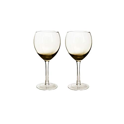 - Denby  Halo/Praline Glassware Red Wine Glass, 2-Pack