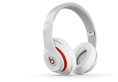 Beats Studio 2.0 WIRED Over-Ear Headphone - White NOT WIRELESS (Renewed)