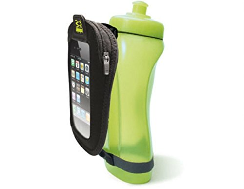 Amphipod Hydraform Handheld In-Touch Water Bottle - 20oz. Amp Green/Black, One Size