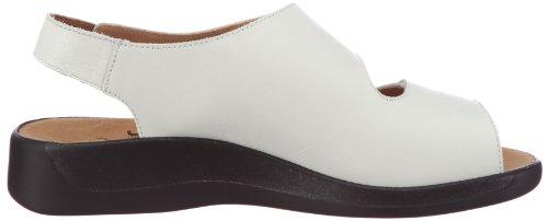 Ganter Monica, Weite G 3-202511-30300 - Sandalias de vestir de cuero nobuck para mujer Blanco