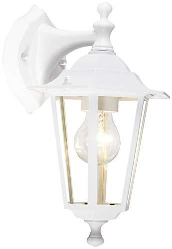 Brilliant 40282/05 Crown – Lámpara de pared para exteriores (1 bombilla de 60 W), color blanco