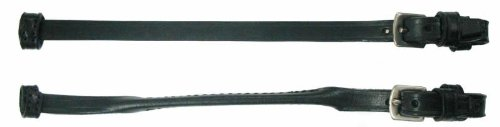 Leather Rolled Strap - Dever Quality Leather Lip Straps - black - rolled
