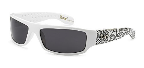 5Zero1 Locs Mens Fashion Hardcore Gangster Cool Shades Bandana Print Two Tone Sunglasses