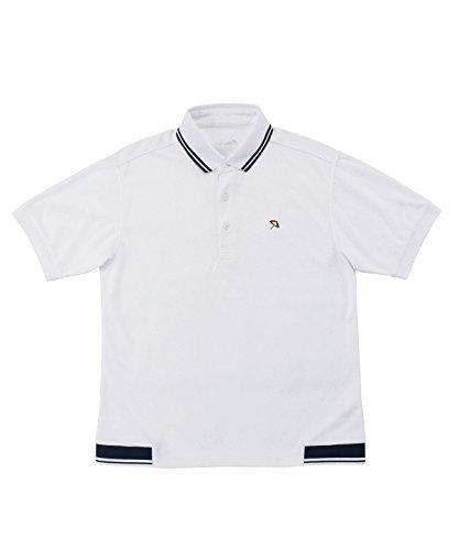 アーノルドパーマー メンズ ゴルフ ポロシャツ 半袖 ヘムリブ半袖ポロ AP220101H01 WH/NV L
