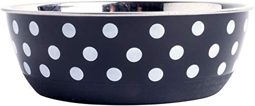 Petface Dog Food Bowl, Feeder, Bella Black/White Spots 5.5 - Bowl Bella Dog