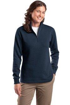 Sport-Tek Women's Sporttek 1/4 Zip Sweatshirt,XX-Large,Navy