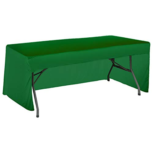 ABCCANOPY 6 FT Rectangle Tablecloth Table Cover for Rectangular Tables in Washable Polyester-Great for Buffet Table Parties Holiday Dinner, Wedding & More (6ft Rectangular Tablecloth, 3# Forest Green) ()