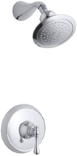 KOHLER K-T16116-4A-CP Revival Rite-Temp Pressure-Balancing Shower Faucet Trim, Polished Chrome