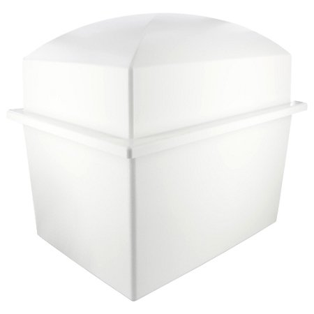 Silverlight Urns Basic Urn Vault Double, White Polymer Storage for Two Cremation Urn for Burial of Ashes, Companion Urn