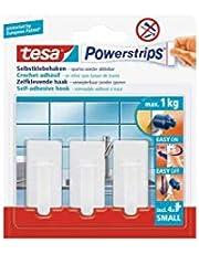 Tesa PowerStrips Haken Small Classic, 3 stuks 3 Stuk wit