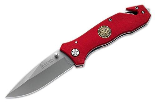 New Boker Magnum - Böker New Magnum Fire Dept Large Pocket Knife + a Free Zombie-Hunter Survival Pocket Knife