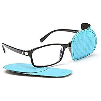 Adecco LLC 6pcs Amblyopia Eye Patches For Glasses,Kids Eye Patch,Treat Strabismus and Lazy Eye Patch For Children(blue)
