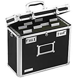 Vaultz Locking File Chest, Letter Size, Black (VZ01187)