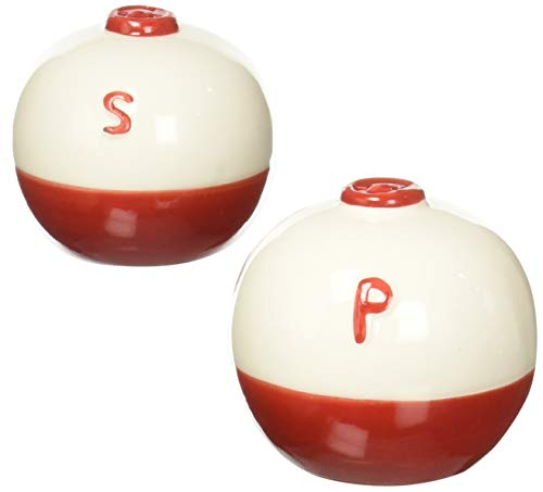 River's Edge 519 Ceramic Fishing Bobber Shaped Salt and Pepper Shakers