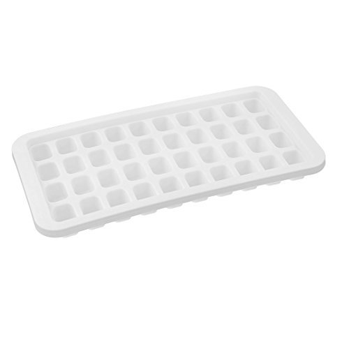 Amazon.com: eDealMax plástico rectangular Inicio 40 compartimiento de la bandeja del cubo de hielo del molde del molde Blanca: Kitchen & Dining