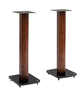 TransDeco TD30DB 30-Inch Tempered Glass and Steel with Solid Wood Trim Speaker Stand (B00H1YRR7M)   Amazon price tracker / tracking, Amazon price history charts, Amazon price watches, Amazon price drop alerts