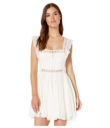 Free People Women's Verona Dress, Ivory, Off White, Large