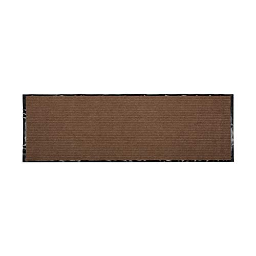 J & M Home Fashions 70337A Ribbed Walk Off Utility Runner, 22x60, Desert Sand