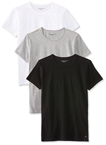 Bc05 Da 3Black Hilfiger grey Tommy Uomopacco white T shirt Heather QroeWxdCEB