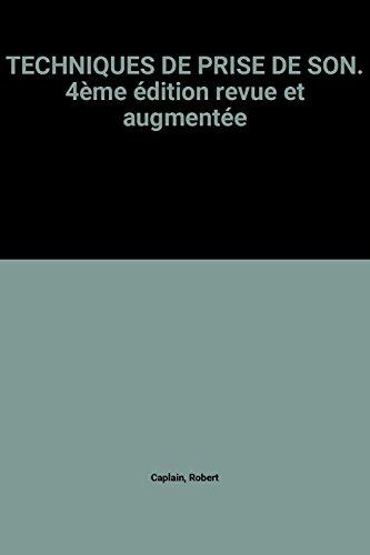 Livre Telecharger Techniques De Prise De Son 4eme Edition
