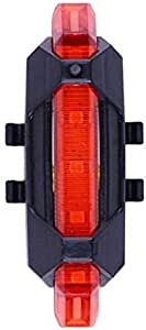 Portable USB Rechargeable 5 LED MTB Bike BICYCLE Rear Light TailLight Back Lamp