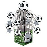 Pack of 6 Soccer Sports Fanatic Mini Cascade Foil Tabletop Centerpiece Party Decorations 8.5