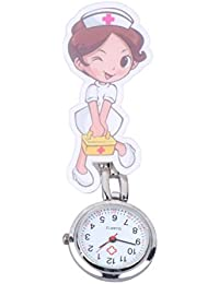 NICERIO Nurse Watch Clip on Brooch Doctor Watch Hanging Pocket Watch Lapel Watch Doctor for Birthday Valentines Day Gift