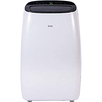 Quilo Portable Air Conditioner with Dehumidifier & Fan for Rooms Up with Remote Control in White/Black