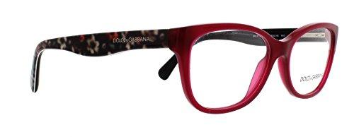 Dolce & Gabbana Women's DG3136 Eyeglasses Opal Bordeaux 53mm