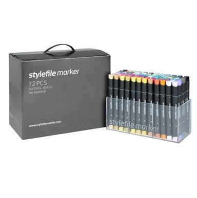 Stylefile Twin Tipped Markers - 72 Set A plus FREE Stylefile Marker Pad by Stylefile