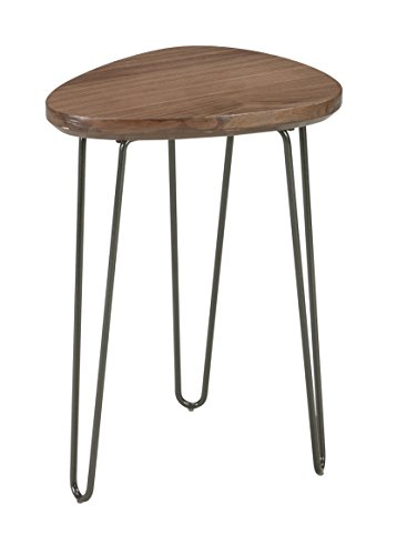 Ashley Furniture Signature Design - Courager Contemporary Triangle Chair Side End Table - Brown/Black