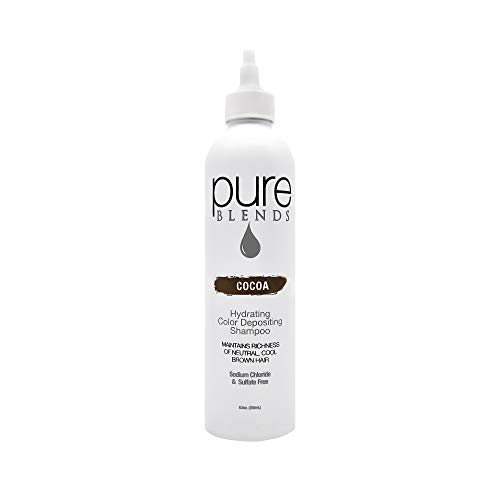 Pure Blends Hydrating Color Depositing Shampoo - Cocoa (neutral cool brown tones) 8.5 Ounce