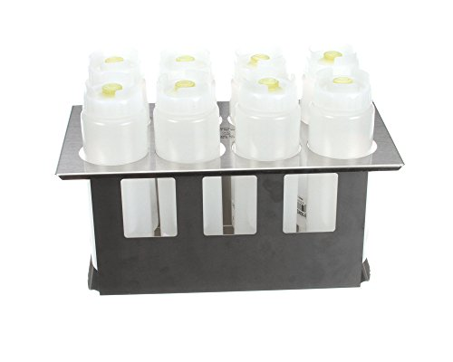 (Server 86996 Stainless Steel Squeeze Bottle Holder Set with 8 Bottles (2.63 Diameter))