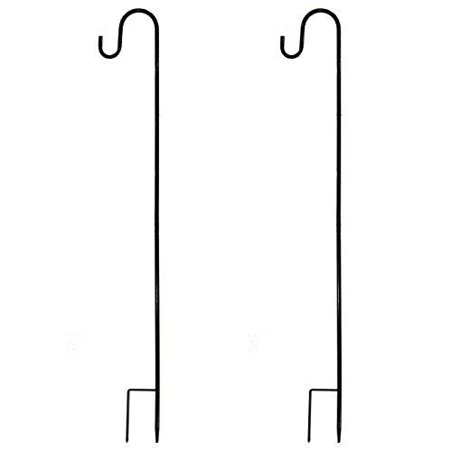 Lawn Sign Holders (Joiedomi 39 Inches Shepherd Hook Garden Hook Hanger Premium Metal Rust Resistant for Hanging Plants, Solar Lights, Lanterns, Bird Feeders etc (2)