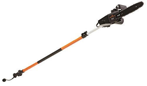 Remington RM1025P Ranger I 8-Amp Electric 2-in-1 Pole Saw & Chainsaw with 10-Foot Telescoping Shaft and 10-Inch Bar for Tree Trimming and Pruning