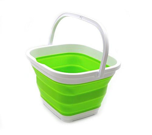Canasta / balde plegable de 10l. rectangular verde
