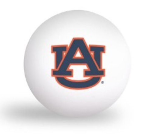 NCAA Auburn University Tigers 6 pack Ping Pong Balls by Laser Magic