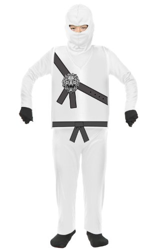 Charades Kid's Child's Ninja Avenger Costume Childrens Costume, White, -