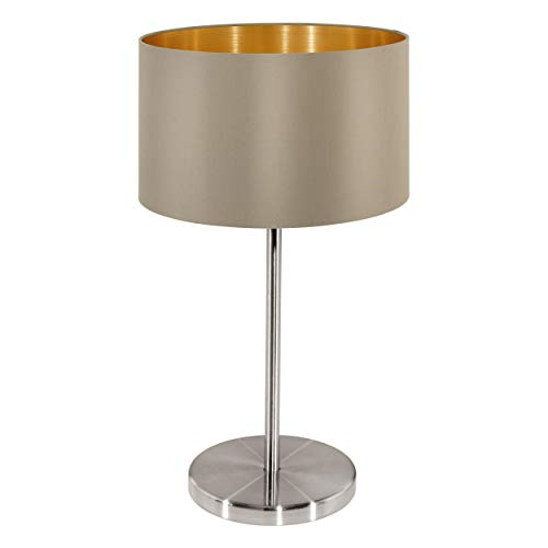 Eglo 31629 - Lámpara de Mesa Maserlo Taupe