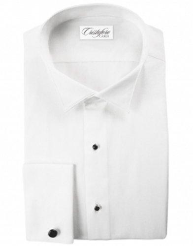 Cardi Men's Tuxedo Shirt- No Pleats, 100% Cotton, Wing Collar