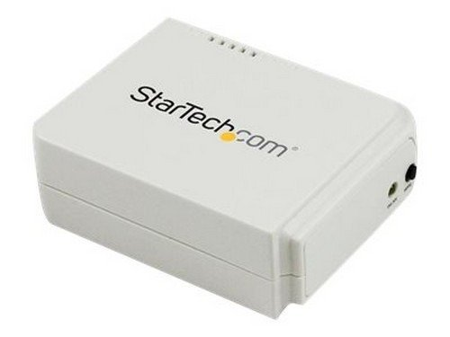 StarTech.com 1 Port USB Wireless N Network Print Server - 802.11 b/g/n - print server by StarTech